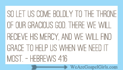 Hebrews 4:16 memory verse card - print and memorize with us! #dosesofhope