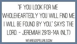 Jeremiah 29:13-14a memory verse card