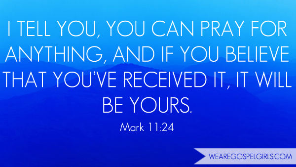 You can pray for anything, and if you believe that you've received it, it will be yours - Mark 11:24 #dosesofhope