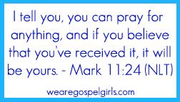Mark 11:24 memory verse card