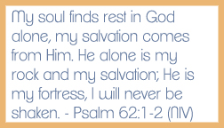 Psalm 62:1-2 memory verse card