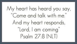Psalm 27:8 printable memory verse card