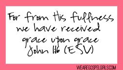 John 1:16 printable memory verse card
