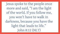 John 8:12 printable memory verse card