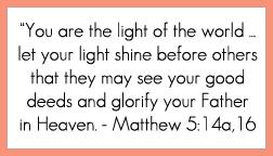 Matthew 5:14a,16 printable memory verse card