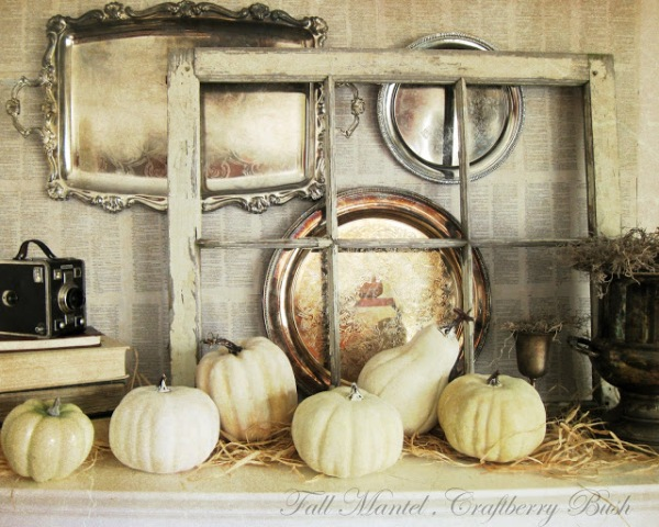 fall mantel by craftberry bush