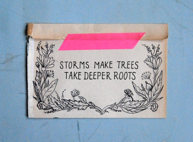 words to live by - storms make trees take deeper roots