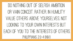 Philippians 2:3-4 printable memory verse card
