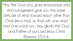 Romans 15:5-6 printable memory verse card