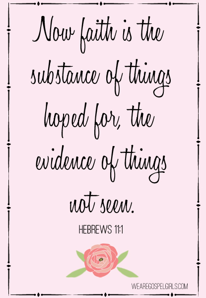 Now faith is the substance of things hoped for, the evidence of things not seen – Hebrews 11:1 #dosesofhope