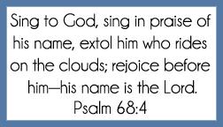 Psalm 68:4 memory verse card