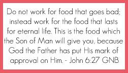 John 6:27 printable memory verse card