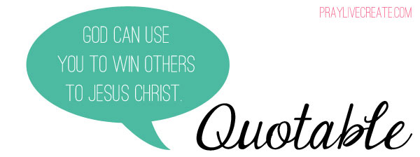 "Quotable: ""God can use you to win others to Jesus Christ."" - Greg Laurie"