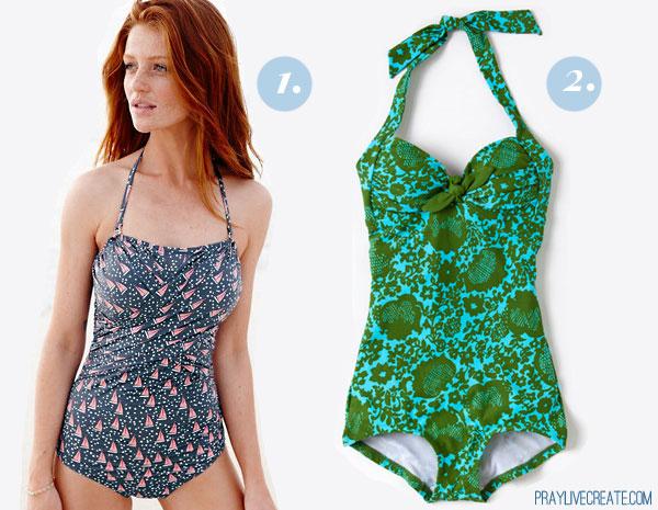 swimsuits under $100 {praylivecreate.com}