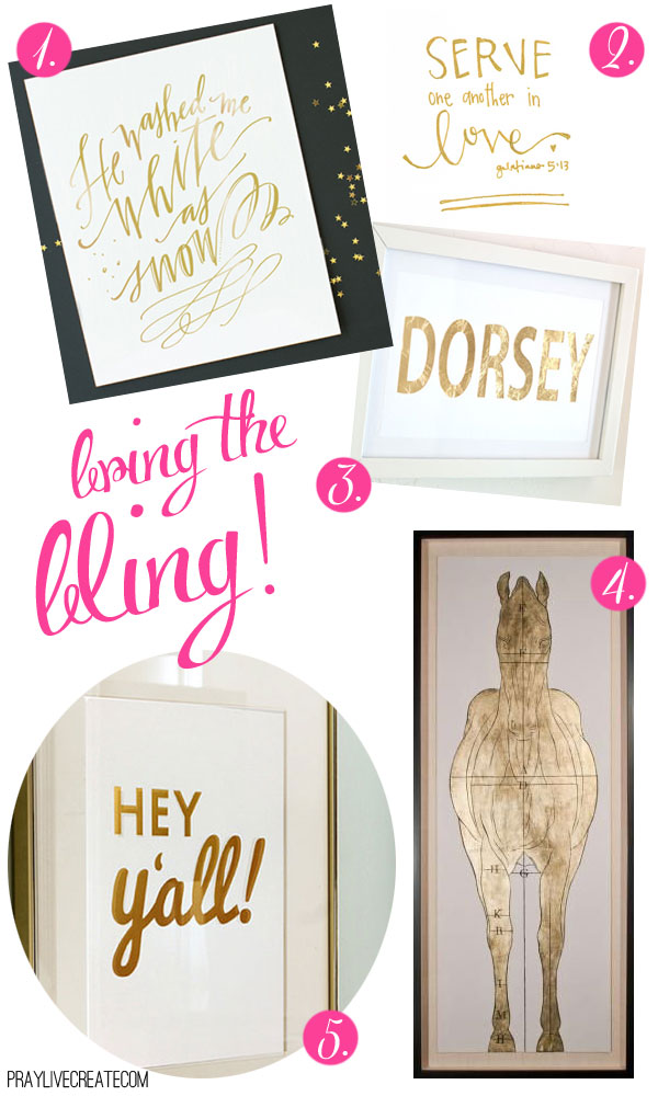 blingy (mostly free and super affordable) art to add some sparkle to your home {praylivecreate.com}