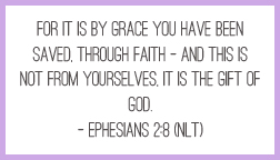Printable memory verse card: Ephesians 2:8 (NLT) #scripture #faith #Bible #quotes