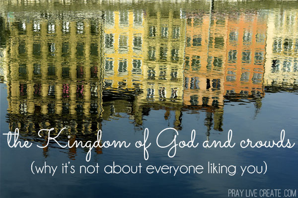 We've adopted the idea that doing something right means being well received by ever growing amounts of people, but often the kingdom of God has very little to do with drawing a crowd. #faith