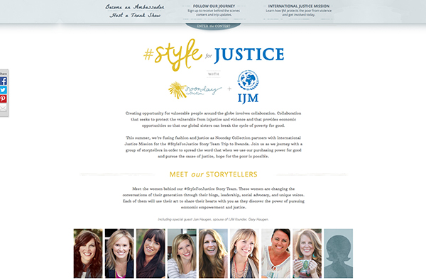 Style for Justice Noonday and IJM