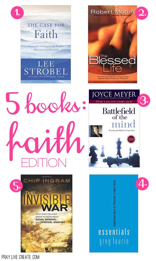 5 books for Christian readers {praylivecreate.com}