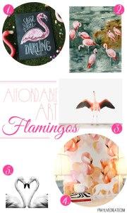 5 gorgeous flamingo art prints for $30 or less!