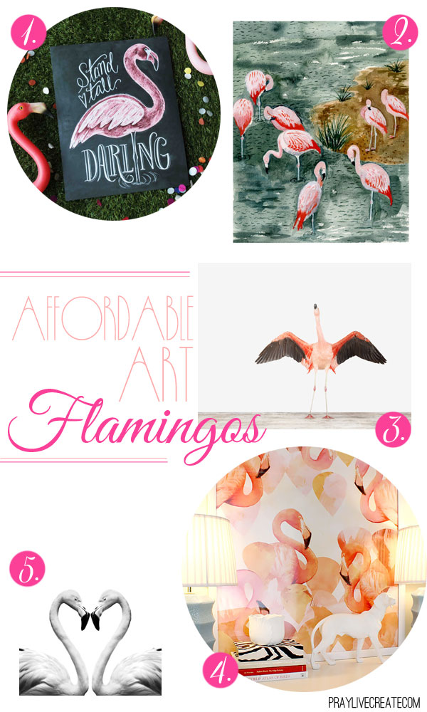 5 gorgeous flamingo art prints for $30 or less!