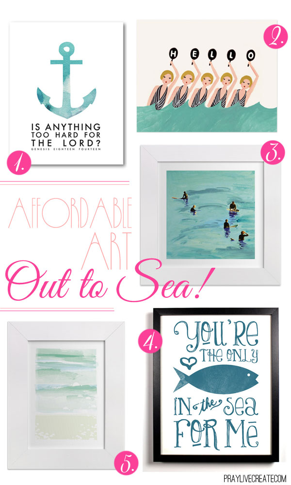 5 ocean themed art prints for under $25!