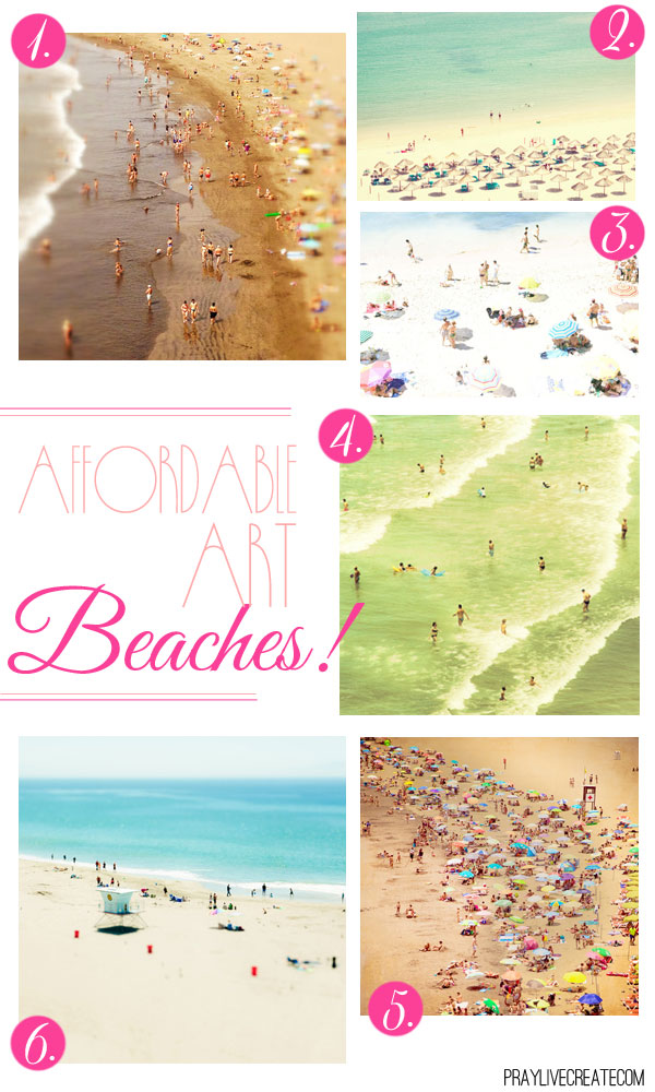 6 aerial beach view art prints for under $35 (large sizes!!). Love these!