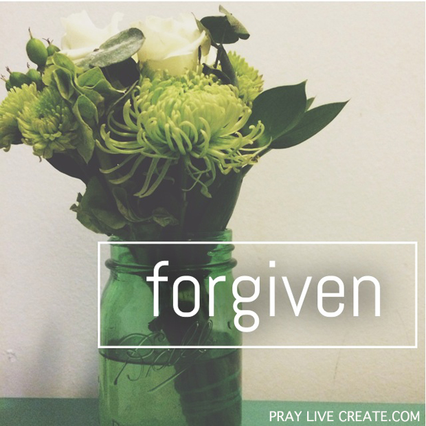 "One of the many names that God has for us is ""forgiven.""  He is not mad at you. {praylivecreate.com} #Bible #scripture #faith"