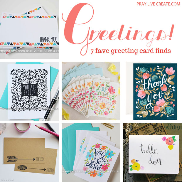 7 adorable greeting cards by super talented artists #floral #tribal