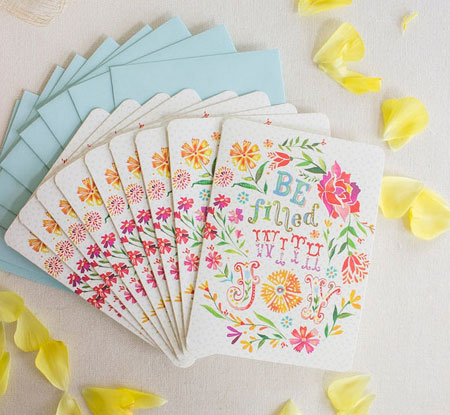 Be Filled with Joy Note Card Set by thewheatfield