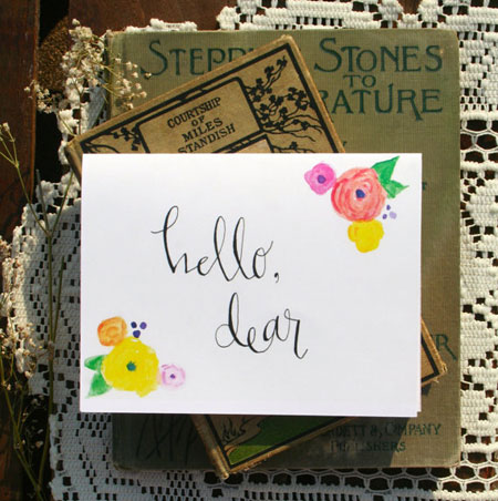hello dear note cards by eastwestdesignco