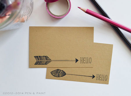 arrow hellow mini cards by penandpaper