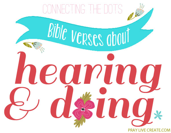 a collection of #Bible verses about hearing & responding to #Scripture